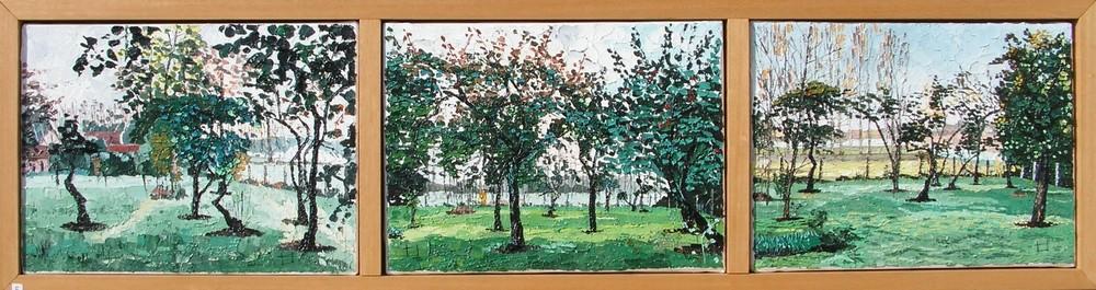 Verger en automne, Montigny sur l`Hallue. 2001. (109cmx29cm)